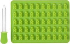 Akyol Siliconen Teddy beer Mal Groen – Chocoladevorm – Mal - Teddybeer mould - Gelatine vorm + gratis pipet. / Teddybeer