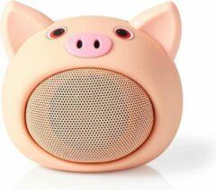 Nedis SPBT4110NC Animaticks Bluetooth Speaker 3 Uur Speeltijd Handsfree Bellen Pinky Pig