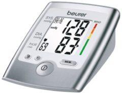 Zilveren Beurer BM35 - Bloeddrukmeter bovenarm - Hartritmestoornis herkenning