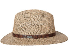 Hatland Rockwell Seagrass Hoed Sand Brown/Donkerbruin