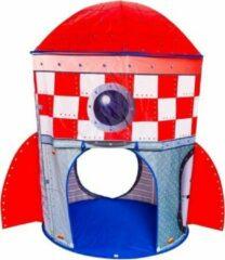 Rode Speeltent Raket - Imaginarium - Pop Up Tent voor Kinderen - Met Tunnel
