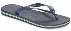 Marineblauwe Havaianas Kids' Brasil Logo Flip Flops - Navy Blue - EU 33-34/UK 1-2 Kids - Navy