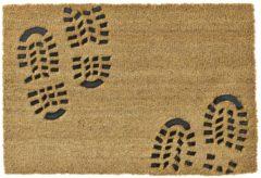 Beige HAMAT Deurmat ruco embossed rubber foot 40x60cm