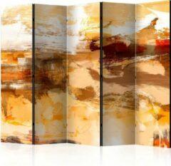 Beige Kamerscherm - Scheidingswand - Vouwscherm - Desert storm II [Room Dividers] 225x172 - Artgeist Vouwscherm