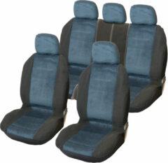 Carpoint Blanco Stoelhoezenset 'Denver' blauw - 9-delig - ook geschikt voor Side-Airbags