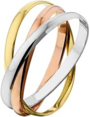 TFT Huiscollectie 4300443 Tricolor gouden ring 1.9 mm Maat 47 is 15 mm