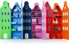 Trapgevel kast Amsterdam. Kast van een Huis. 198/55/55 cm. Tairormade kleur. Wenskleur.