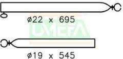 Zilveren Campking spanstok 22/19mm 70-120cm (F) - 69.734.60