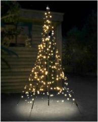Fairybell licht kerstboom 200 cm 300 led warmwit met mast