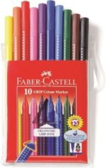 Faber-Castell Viltstiften Faber Castell GRIP Colour etui 10 stuks