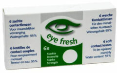 Eye Fresh zachte maandlenzen -1.00 - 6 stuks - Contactlenzen
