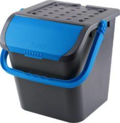 Zwarte De  Bries Malpie afvalbak - afvalemmer - blauw - afvalscheiden papier - PMD
