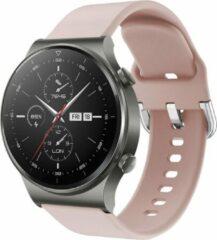 IMoshion Siliconen Smartwatch Bandje voor de Huawei Watch GT 2,Huawei Watch GT 2 Pro,Huawei Watch GT 2e Sport 46 mm - Lichtroze