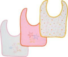 Bianco Blu Babies Slabber per 3 Roze-NDB04903B Maten: Een maat
