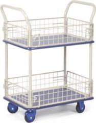 Protaurus Transportwagen 150 kg mit 2 Ladeflächen und Gitterwänden