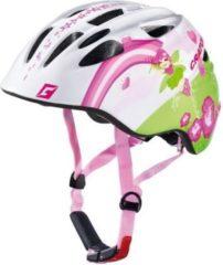 "CRATONI 112203B2 ""Akino"" Kinder-Fahrradhelm Akino, Größe M (53-58cm), Fee, weiß/pink/glanz (1 Stück)"
