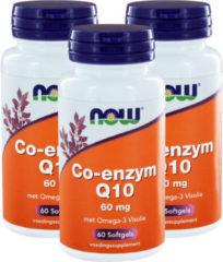 Now Foods NOW Co-enzym Q10 60 mg met omega-3 visolie 60 Softgel