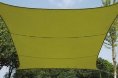 Groene Planet24 SCHADUWDOEK - ZONNEZEIL - VIERKANT 5 x 5 m, kleur: lichtgroen