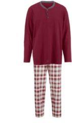 Schlafanzug Gregory rot/ecru/grau