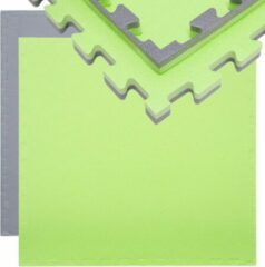 Groene Eyepower Trainingsmat 90x90cm Vloerbeschermingsmat 90x90cm Vloerbeschermer 20mm Puzzelmat uittrekbaar Grijsgr