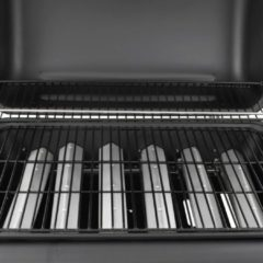 VidaXL Gasbarbecue met 6 branders zwart
