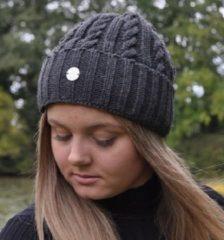 Hats&Co Hats & Co beanie voor hem en haar - kleur antraciet grijs