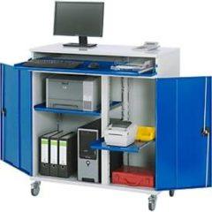 Rau Computer-Schrank stationäre oder mobile Ausführung, B 1100/650 x T 520 x H 1060/1185 mm