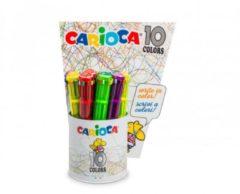 Penna a sfera automatica multicolore 12 pezzi Carioca