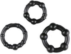 Zwarte Trinity Vibes Performance erectieringen - zwart, verpakt
