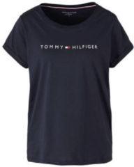 Marineblauwe Tommy Hilfiger - Dames T-Shirt Logo Blauw - XS