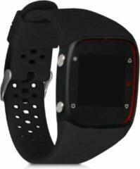 Kwmobile horlogeband voor Polar M400 / M430 - siliconen armband voor fitnesstracker - mat zwart