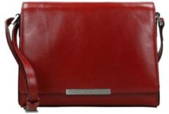 Rode Claudio Ferrici Classico Fold-Over Schoudertas Red 18004