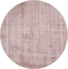 Veercarpets Vloerkleed Viscose - Rond ø200 cm - Pink - Roze