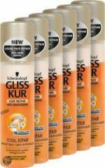 Gliss Kur Anti-Klit Spray Total Repair 19 - 6 st - voordeelverpakking
