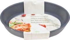 Merkloos / Sans marque 1x Zwarte ovale glazen ovenschaal 2,4 liter 30 x 21 cm - Ovenschotel schalen - Bakvorm - Ovenschalen