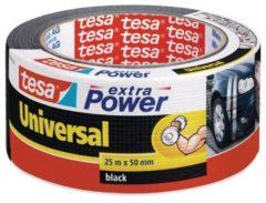 Tesa tesa Extra Power Textieltape Zwart (l x b) 25 m x 50 mm Rubber Inhoud: 1 rollen