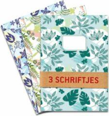 De Kaartenmakers Schriften Bladeren en bloemen - 3 stuks A5 Gelijnd