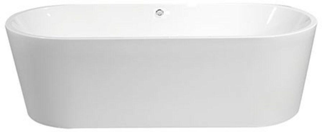Afbeelding van Douche Concurrent Ligbad Vrijstaand Becoma Ovaal 80x178x55cm Glasvezelversterkt Hoogwaardig Acryl Glans Wit met Badwaste en Overloop