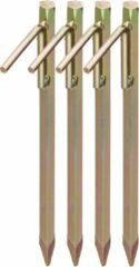 Gouden Relaxdays grondpennen - set van 4 - grondanker - XL - staal - rotspennen - tentharingen