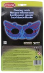 Blauwe GOODMARK - Fosforescerend superhelden masker - Maskers > Masquerade masker
