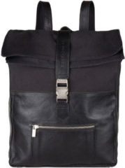 "Zwarte Cowboysbag Backpack Hunter Laptop 15.6"" Black 2276"