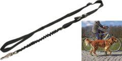 Zwarte Trixie Fiets En Jogging Lijn Dog Activity - 2M x 25 mm - Zwart