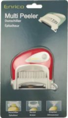 Rode Enrico Multi Peeler 3 in 1 | aardappelschilmes | 3 in 1 dunschiller | Dunschiller borstel en ontpitter | Schilmes