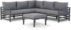 Antraciet-grijze Domani Furniture Domani Melby hoek loungeset 4-delig
