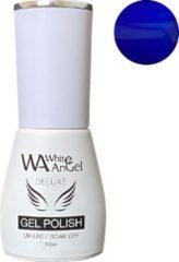 Blauwe Gellex White Angel Gellex Deluxe Gel Polish, gellak, gel nagellak, shellac - Sapphire 082