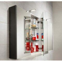 Galva Juliette spiegelkast met 2 softclose deuren 70cm grijs