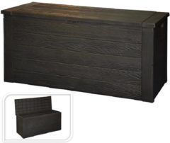Massamarkt Kussenbox hout patroon 120x46x58 cm