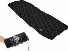Lumaland - Slaapmat - Isolerende opblaasbare campingmat - Outdoor/Camping - 188 x60 x 6 cm - Zwart