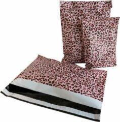 ROTIM 100x Verzendzakken Luipaard Roze XL Liggend Verzendzakken Luipaard Roze 600x457mm