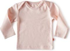Little Label - baby - T-shirt - lichtroze - maat 56 - bio-katoen